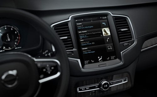 The designers and engineers behind Volvo?s all-new XC90, which will be revealed later this year, have completely re-conceived the way drivers operate their cars by dispensing with the normal array of buttons and replacing them with a large tablet-like touch screen, a head-up display and thumb controls on the steering wheel.
